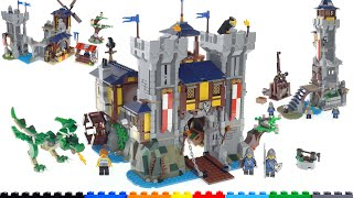 LEGO Creator Medieval Castle thorough review, all 3 builds + all combined! 31120