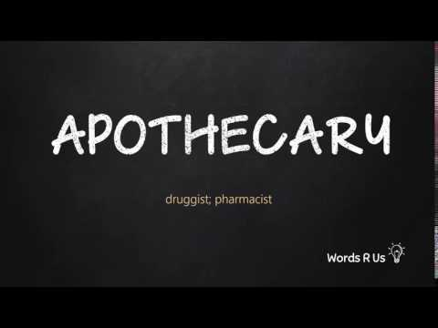 How to Pronounce APOTHECARY in American English