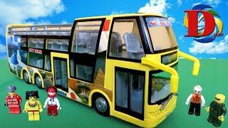 Открываем игрушки машинки Туристический Автобус Dickie Toys City Tour Обзор Игрушки мультфильм