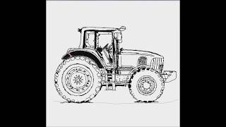 How To Draw A Car #07 (John deere Tractor Car)