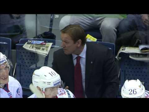 Первый гол Войтека Вольски в КХЛ / Wojtek Wolski first KHL goal
