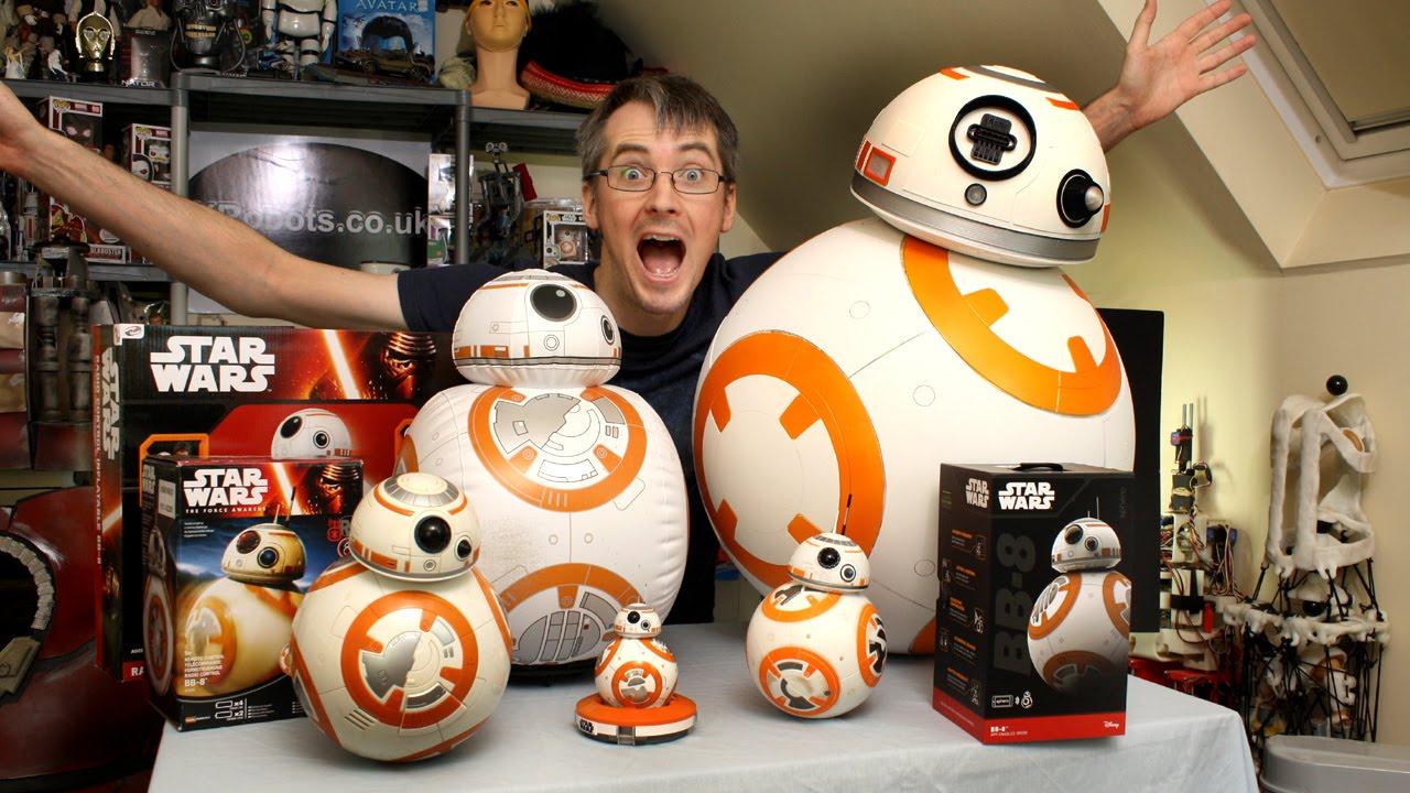 XRobots - Star Wars BB-8 BIG Toy unboxing review & comparison ...