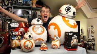 xrobots star wars bb 8 big toy unboxing review comparison sphero bladez hasbro