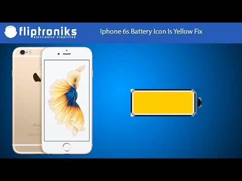 Iphone 6s Battery Icon Is Yellow Fix Fliptroniks Youtube