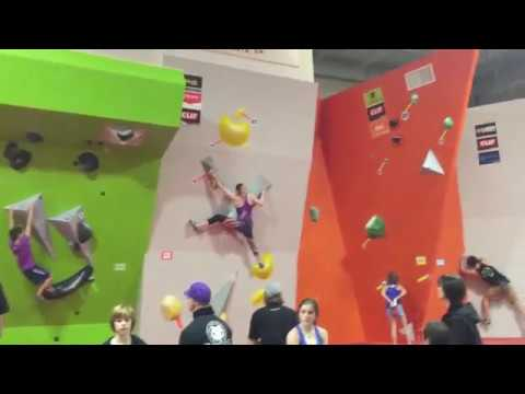 Helen Bouldering Divisionals 2018 Finals Problem 3