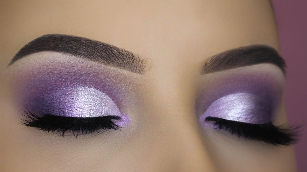 sultry purple eye makeup tutorial