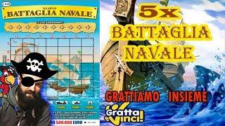 5X BATTAGLIA NAVALE 🚢🌊Gratta & Vinci GRATTIAMO INSIEME 🍀