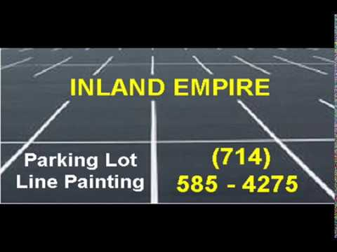 Parking Lot Line Painting Inland Empire Area Cities - YouTube
