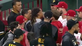 Reds vs Pirates Full Fight | Amir Garrett Takes on ENTIRE Pirates Team!
