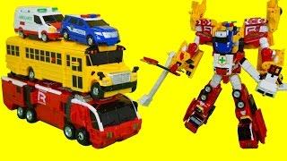 헬로카봇 슈퍼패트론 다이어 패트론 리프 스키드 4단합체 로봇 장난감 Hellocarbot Transformers Car Toys