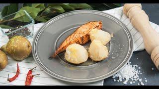 Обожженная форель с запечённым сельдереем   Кухня по заявкам