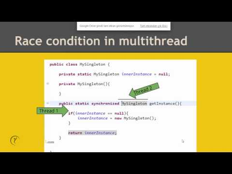 Thread-safe singleton implementation in Java