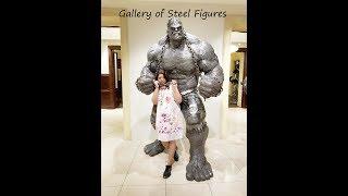 Gallery of Steel Figures - Prague | Metal Art Museum | Steel Sculptures | Scrap Metal Art -Recycled