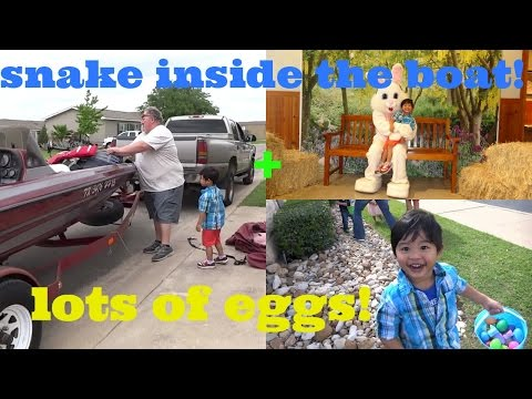 Thumbnail: SNAKE INSIDE THE BOAT! SCARY | EASTER EGGS | FILIPINO AMERICAN LIFE (Vlog50) RUDY'BBQ IN TEXAS