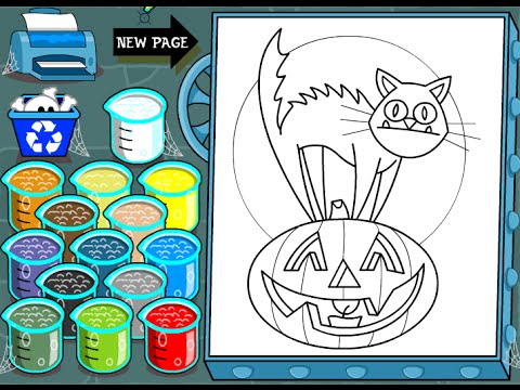 Halloween Cat Coloring Pages For Kids - Halloween Cat Coloring Pages ...