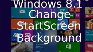 Change Start Screen Background - Windows 8.1 Tutorial