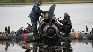 IL-2 recovering from the lake and disassembling