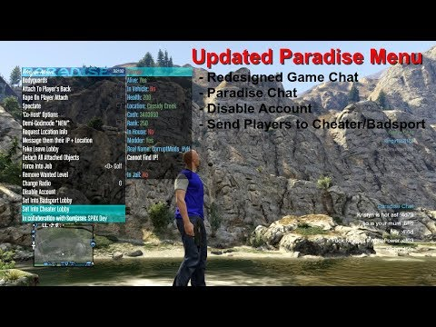 UPDATE! - Paradise - Disable Players Account, Badsport/Cheater Lobbies - PS3