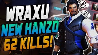 WRAXU DOMINATING AS NEW HANZO! 62 ELIMS! [ OVERWATCH SEASON 10 TOP 500 ]