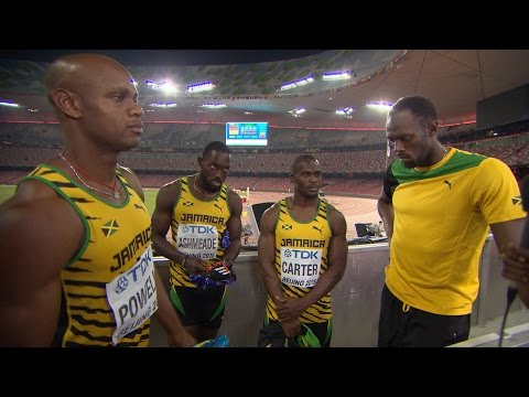 WCH 2015 Beijing - Team Jamaica 4x100m Relay Men Final Gold