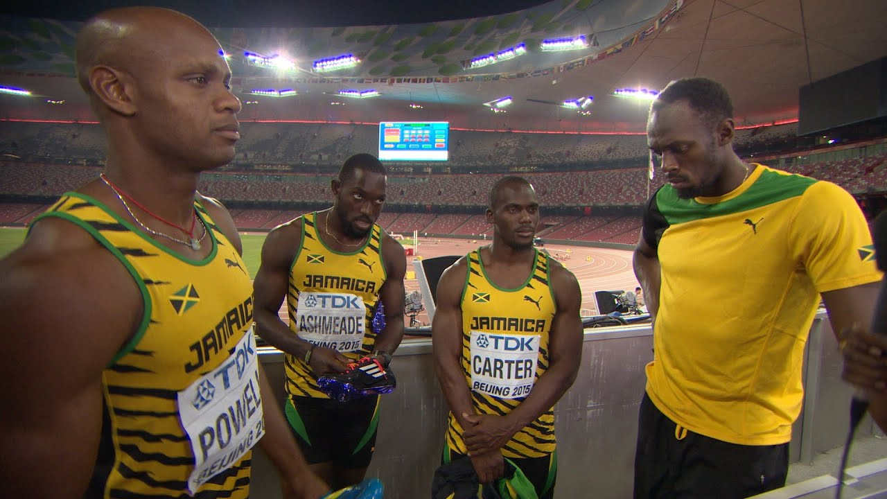 WCH 2015 Beijing - Team Jamaica 4x100m Relay Men Final ...