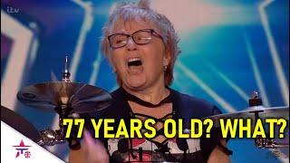 77 Year Old Proves Why Age Is Just A Number! INCREDIBLE Drummer! | Britain's Got Talent 2020