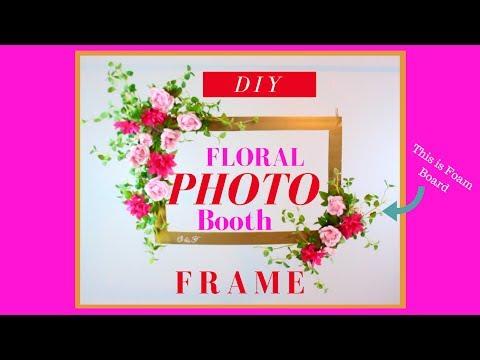 Dollar Tree Photo Booth Frame | Dollar Tree Wedding DIY