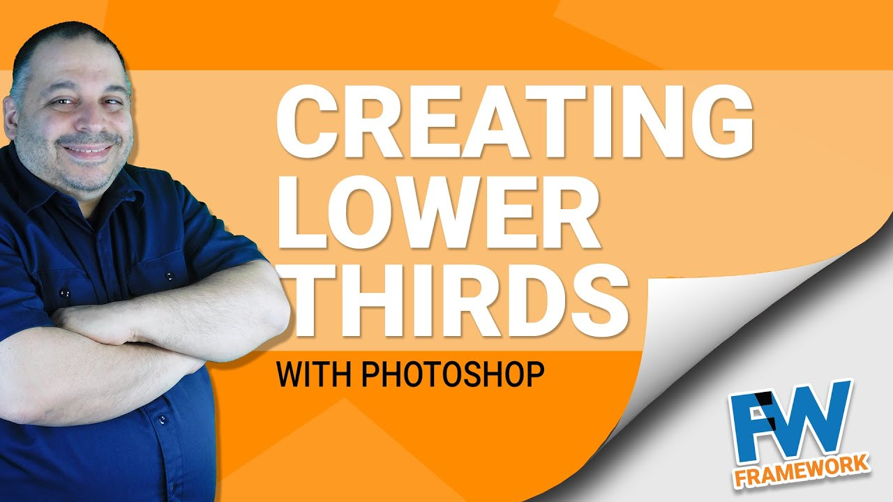 How To Create Lower Thirds In Photoshop | Create Lower Thirds