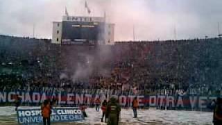Salida Universidad de Chile v/s Union Española final apertura 2009 estadio Nacional