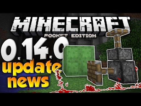 MCPE 0.14.0 UPDATE NEWS!!! - Pistons, Slime Blocks, & More Features! - Minecraft PE (Pocket Edition)
