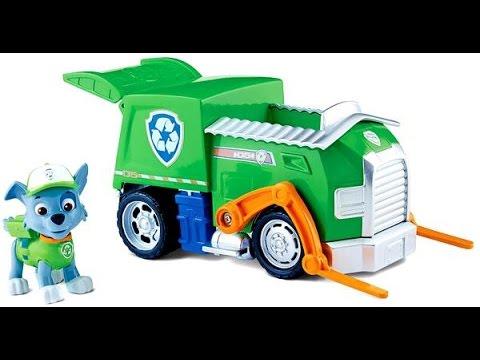 paw patrol la pat 39 patrouille rocky et son camion de recyclage figurines jouets youtube. Black Bedroom Furniture Sets. Home Design Ideas