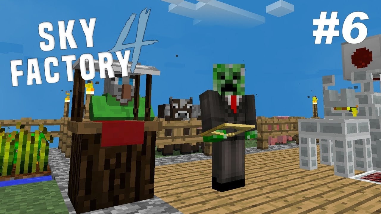 SkyFactory 4: Ep #6 - Market & Resource Automation