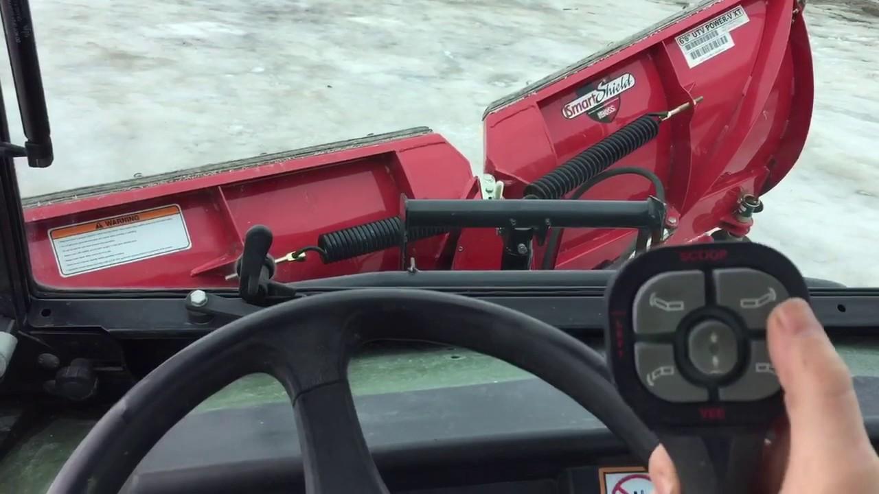 John Deere Gator >> Boss Plow on John Deere gator - YouTube