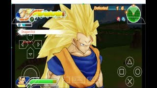 Dragon Ball Z Tenkaichi Tag Team - Goku transform SSJ3 fight in survival