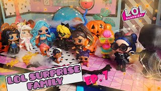 LOL Surprise Family Ep. 7 👪🎃 Marine's HALLOWEEN Party! 👻