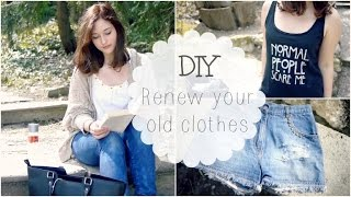 Upcycle your old clothes :) //Spring DIY #1