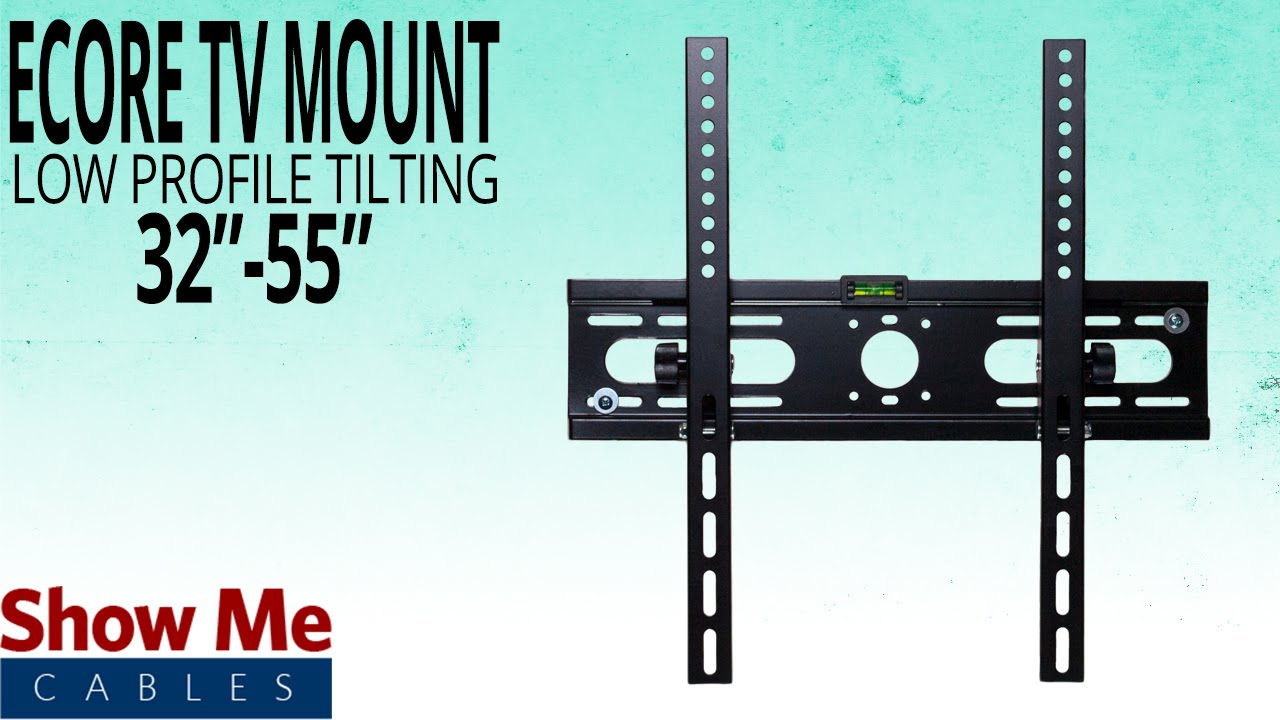 How To Hang The Ecore Low Profile Tv Mount For 32 55 Tv S Install Made Easy Youtube