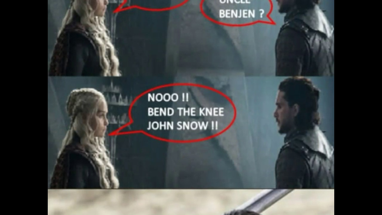 maxresdefault bend the knee game of thrones meme youtube