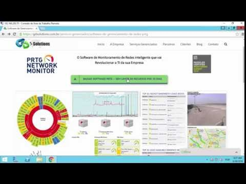 Видео Ferramenta de monitoramento de redes PRTG