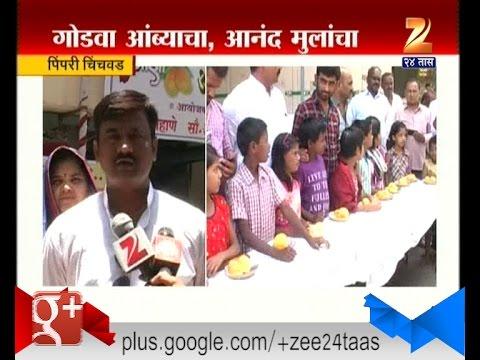 Pimpri Chinchwad   Orphan Children Enjoyed Mango Festival