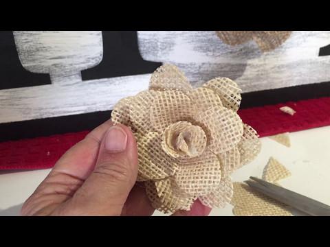 Making Easy Burlap Flowers