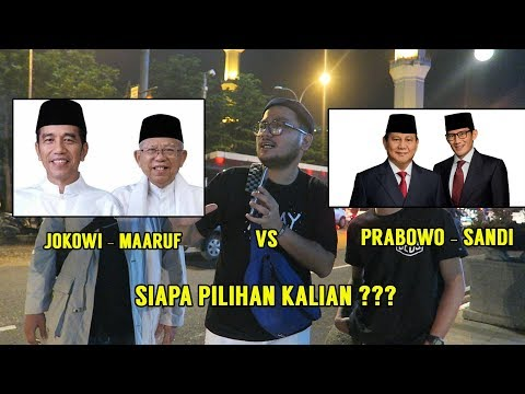 JOKOWI ATAU PRABOWO ?? BEGINI MENURUT WARGA BANDUNG - Social Experiment Pemilihan Presiden 2019 !!