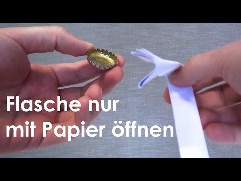 Lifehack: Flasche mit normalem Papier öffnen [Erklärt]
