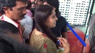 Malayalam actress Sanusha inaugurating 'Skylark Eye Care Centre' Payyanur