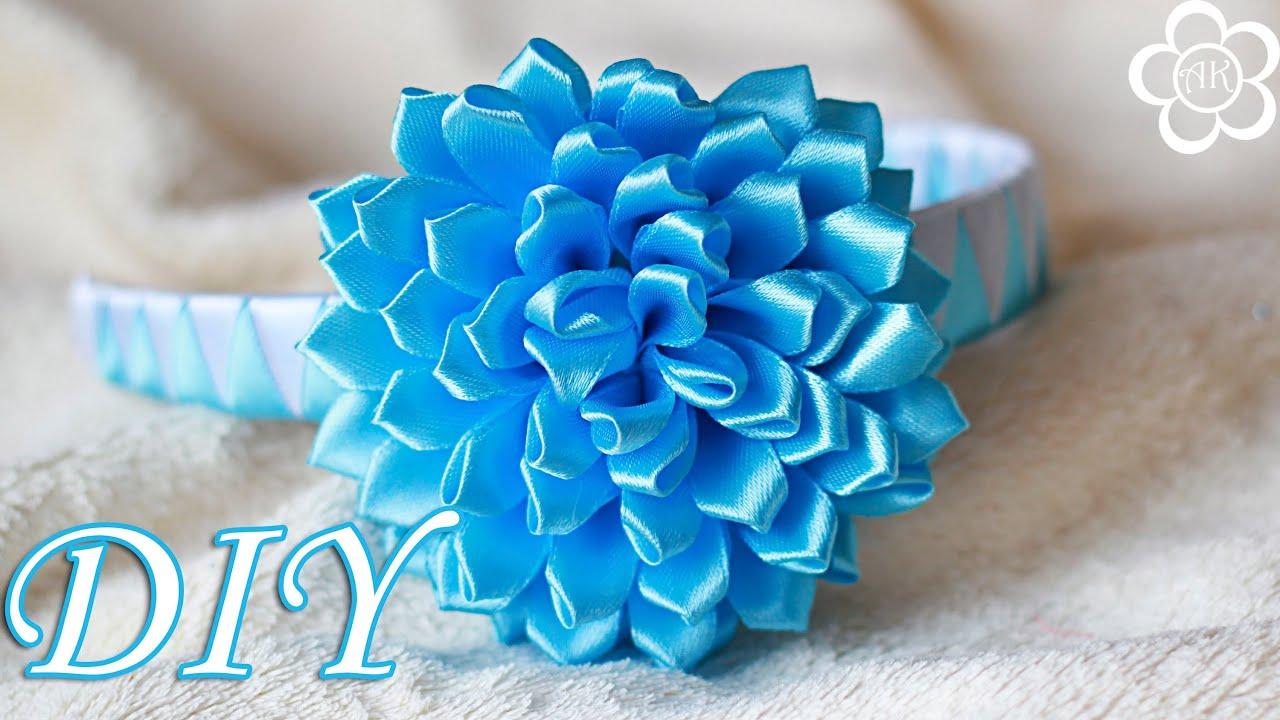 Фото цветка канзаши синего 86