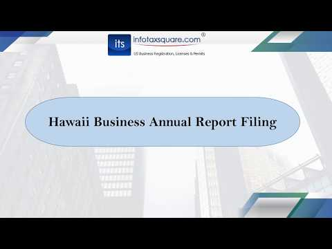 Hawaii Business Annual Report Filing