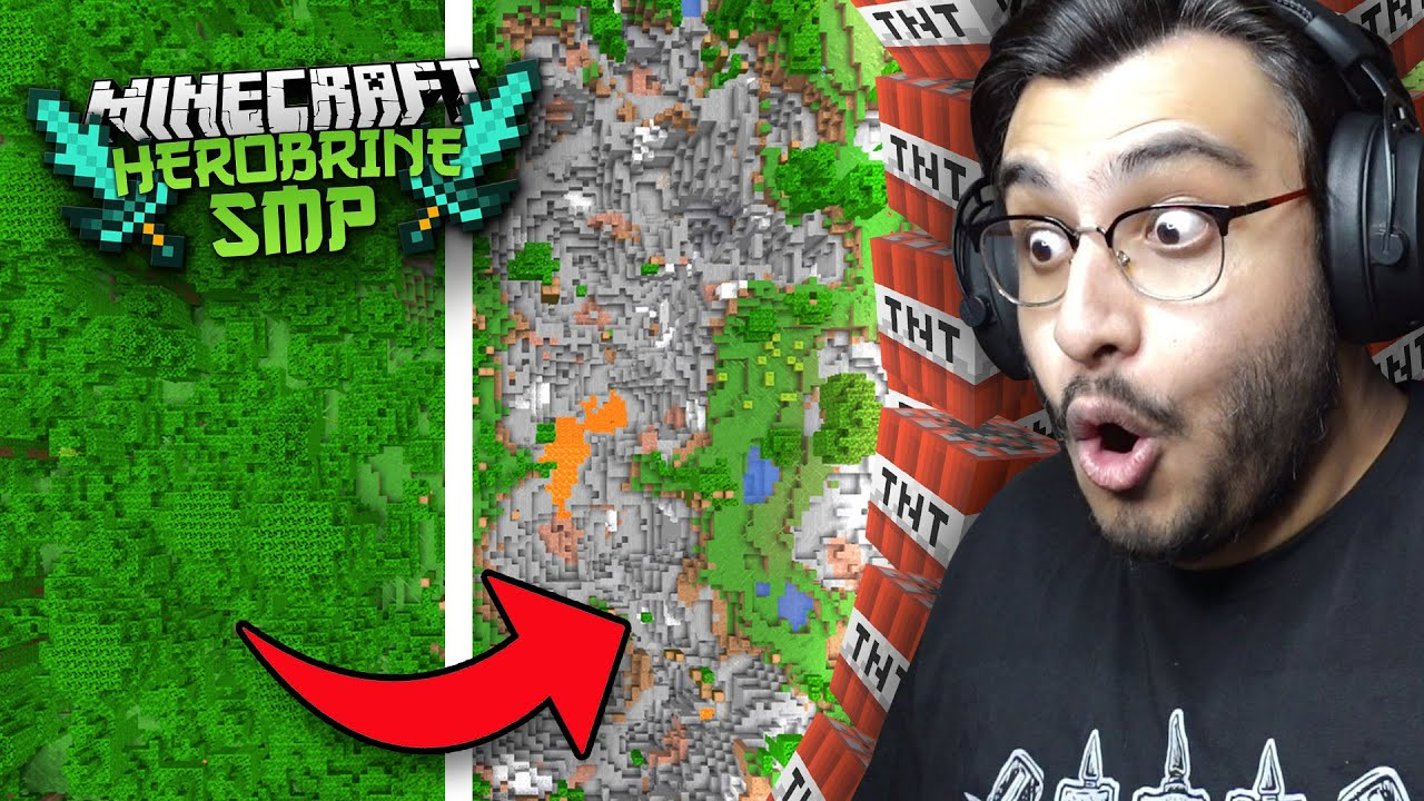 I MADE THE MOST DESTRUCTIVE TNT CANON IN HEROBRINE SMP | RAWKNEE