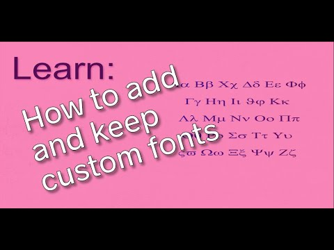 How To Add And Keep Custom Fonts In Microsoft PowerPoint
