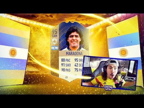 I PACKED 95 ICON MARADONA OMFG FIFA 18