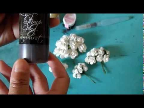 5 Ways to color your white paper roses
